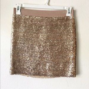Lily White Sequin Skirt Size L